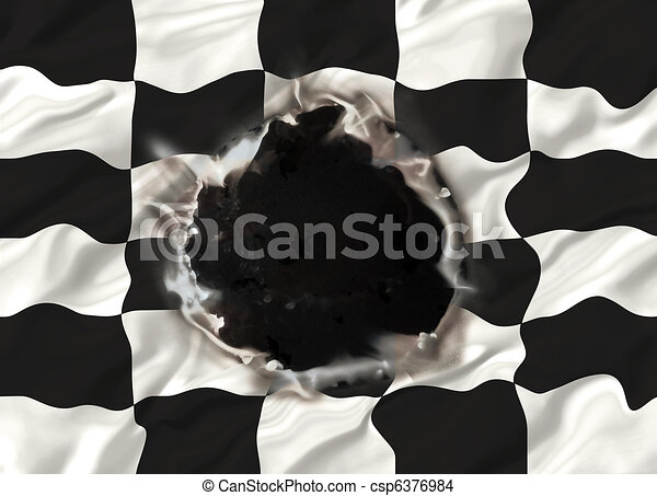 Hole in Chequered flag - csp6376984