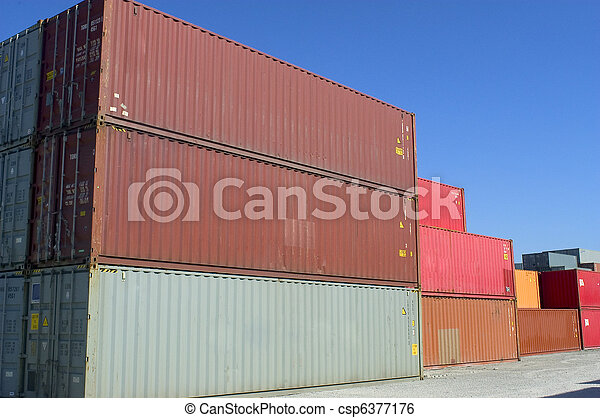 containers at the port for shipment - csp6377176