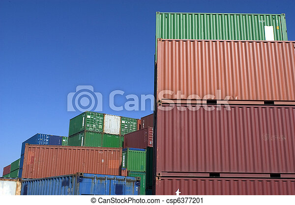 containers at the port for shipment - csp6377201