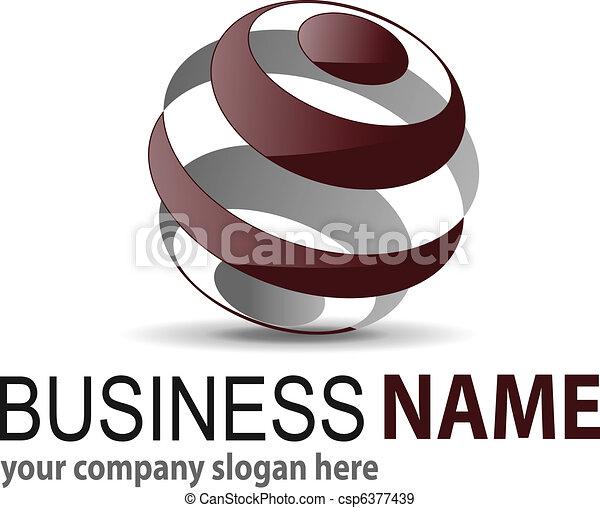 Logo 3D sphere - csp6377439