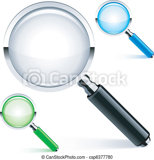Magnifying glass. - csp6377780