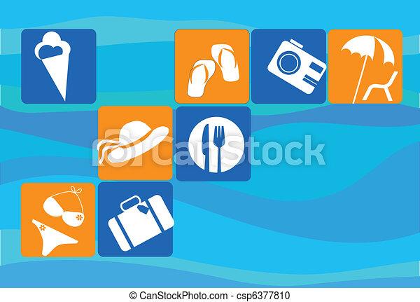 traveling and transportation icon set - csp6377810