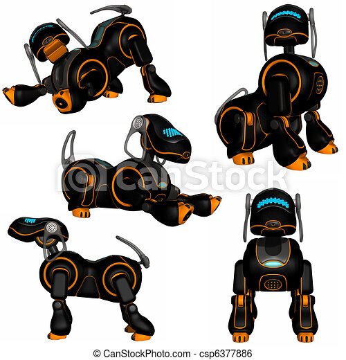 Robotic Dog Drawing Robot Dog Csp6377886