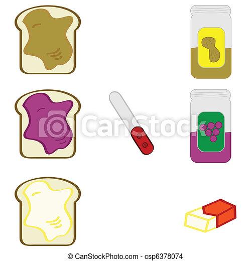Bread spreads - csp6378074