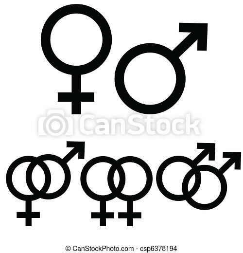 Male and female signs - csp6378194