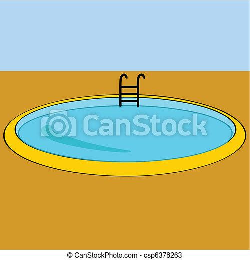 Vecteurs de natation piscine dessin anim illustration for Prix piscine 3x5