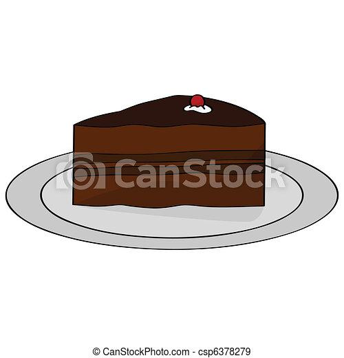 Chocolate cake - csp6378279