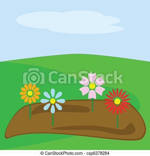 Spring garden - csp6378284