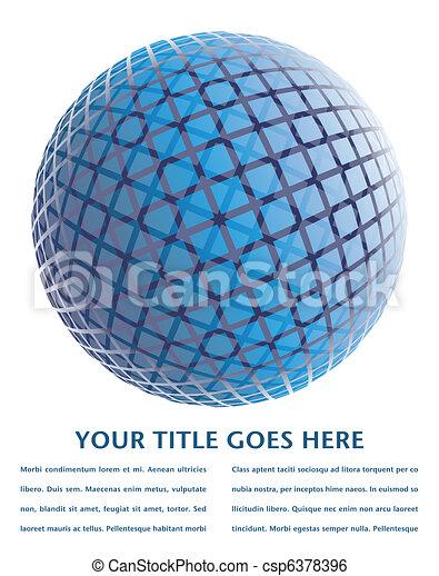 Colorful digital globe design. - csp6378396