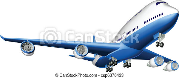 Illustration of a large passenger plane - csp6378433