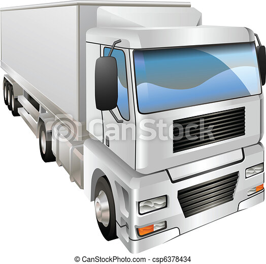 Illustration of haulage truck - csp6378434