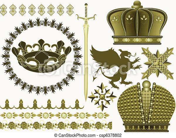 symbols of the Middle Ages - csp6378802