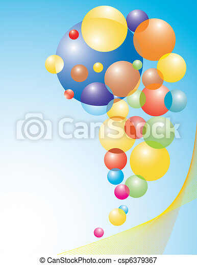 set of colored balloons - csp6379367