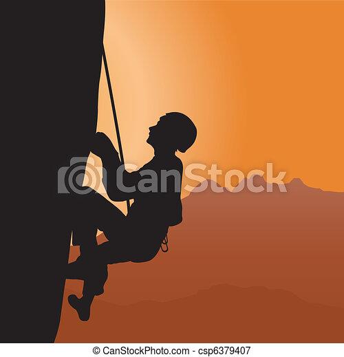 Rock climbing - csp6379407
