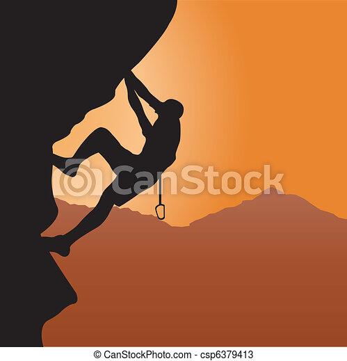 Rock climbing - csp6379413