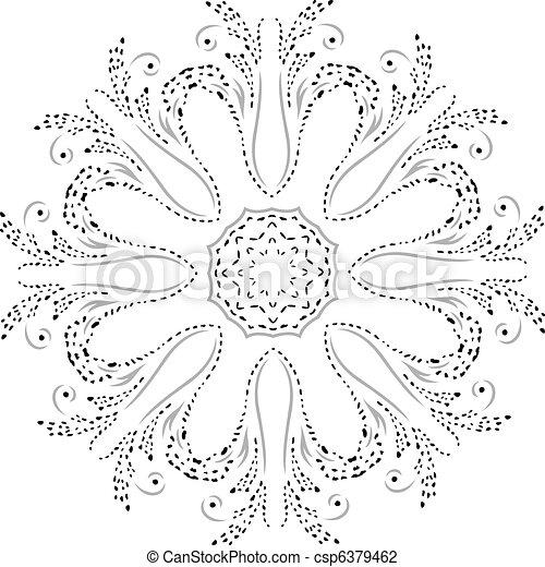 Stencil Mandala Design - csp6379462