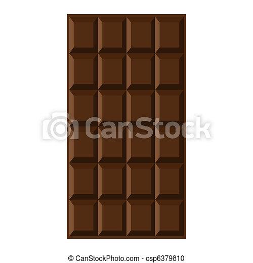 Chocolate bar. - csp6379810