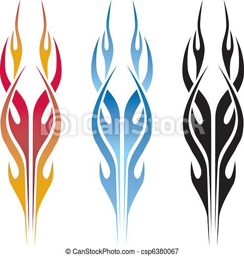 Car Flames Vector Flame Car Tattoo Csp6380067