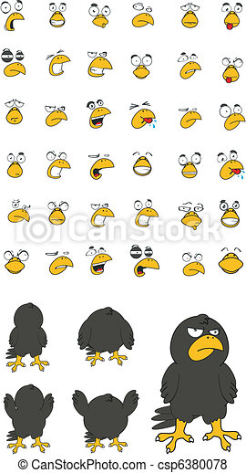 crow cartoon set - csp6380078