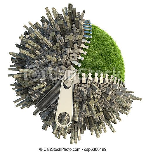 environmental change concept - csp6380499