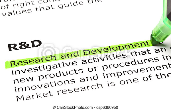 'Research and Development' highlighted in green - csp6380950