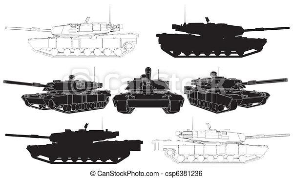 Military Tank  - csp6381236