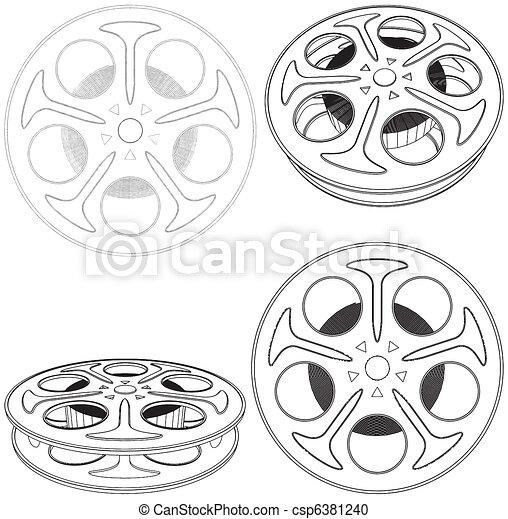 Film Reel  - csp6381240
