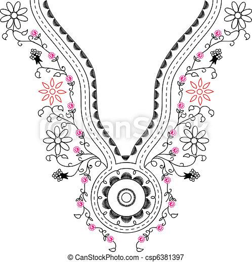 Embroidery fashion - csp6381397
