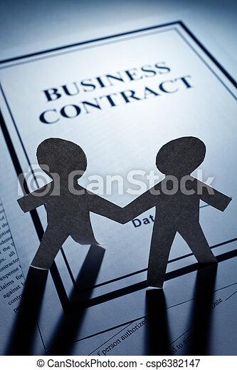 ペーパー, 契約, 男性, 鎖, ビジネス - csp6382147
