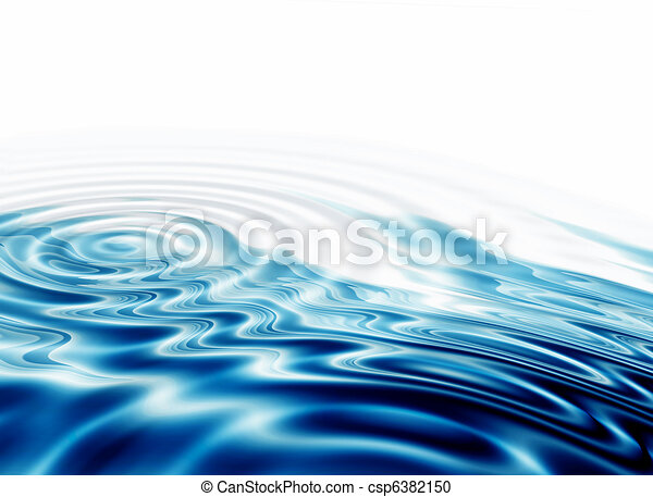 crystal clear water ripples - csp6382150