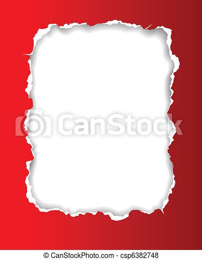 Torn Paper Frame - csp6382748