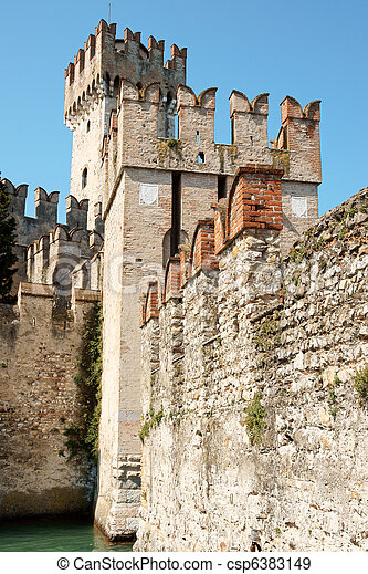 Scaligers castle of Sirmione - csp6383149