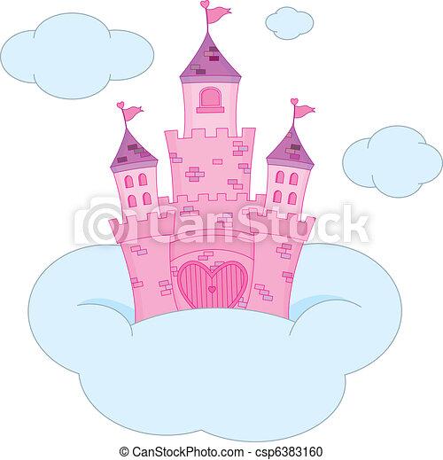 Pink princess castle - csp6383160