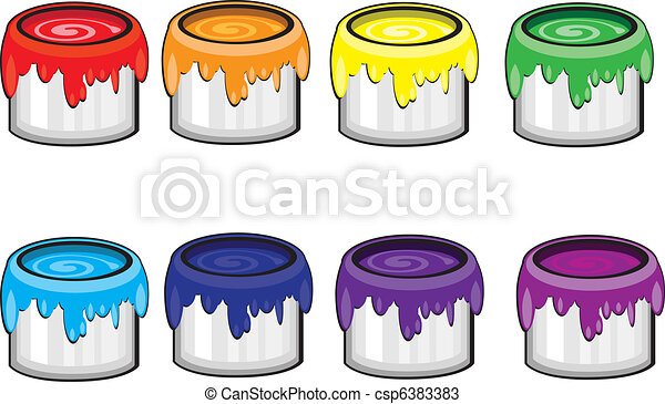 Paint Cans In A Classroom