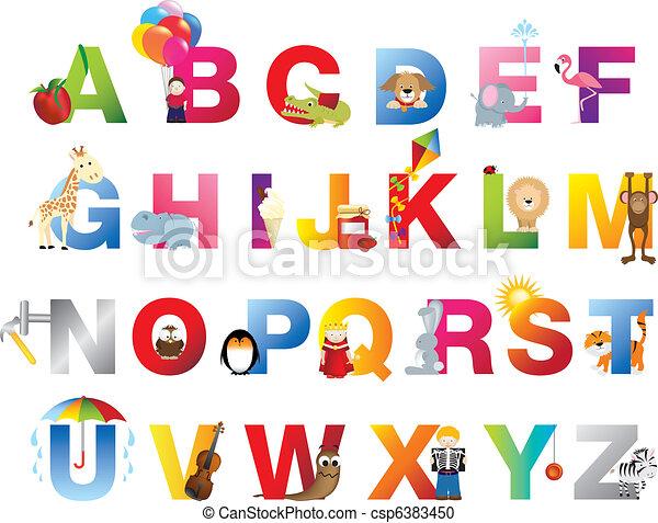 Complete childrens alphabet - csp6383450