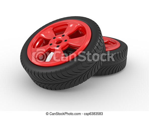 3D automobile wheel - csp6383583