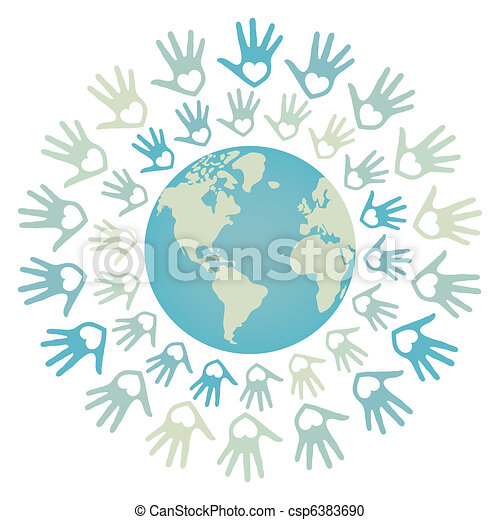 World peace and unity design. - csp6383690