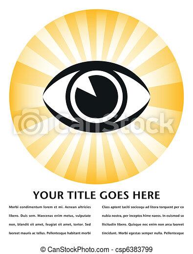 Bright eye sunburst design.  - csp6383799