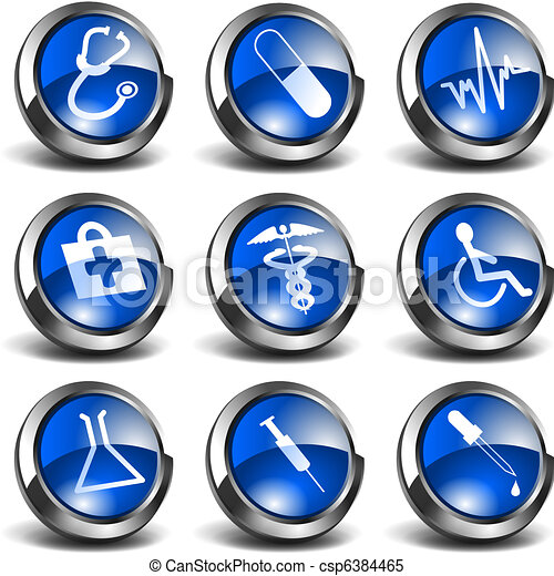 3D Health and Medical Icons Set 01 - csp6384465