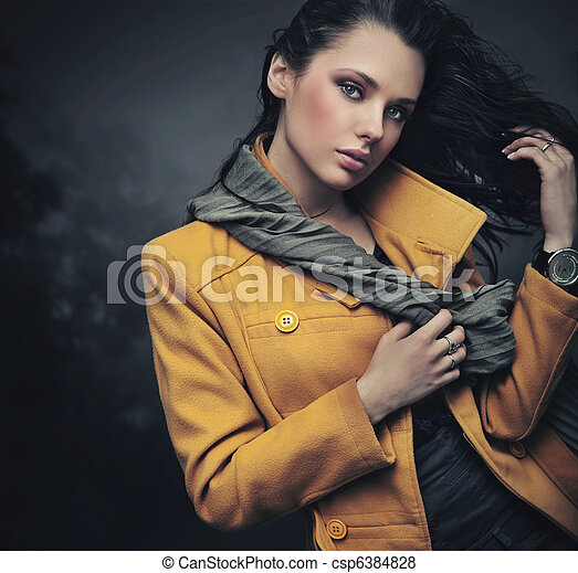 Portrait of a calm young lady - csp6384828