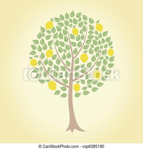 Lemon Tree Artwork Lemon Tree Csp6385190