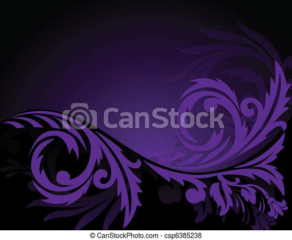 Horizontal purple ornament - csp6385238