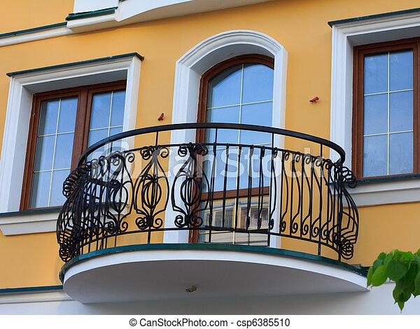 Stock Photography Of Wrought Balcony Lattice