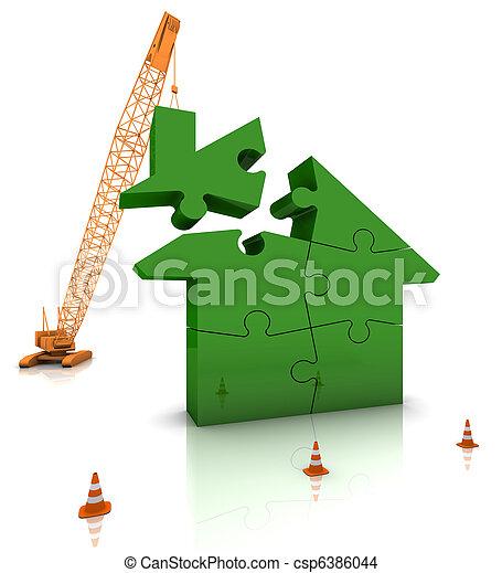 Building a Green Home - csp6386044