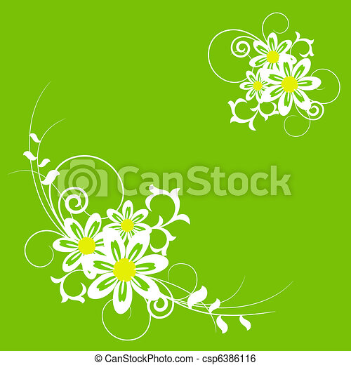 Summer flowers and herbs. - csp6386116