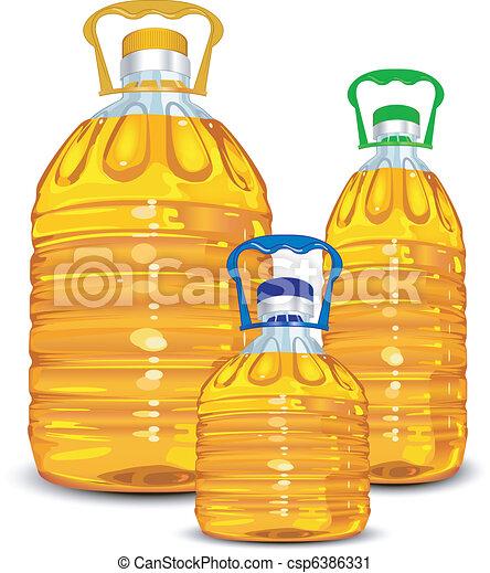 Oil bottles - csp6386331