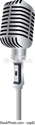 Vintage Microphone with Room for Your Text - csp6386830