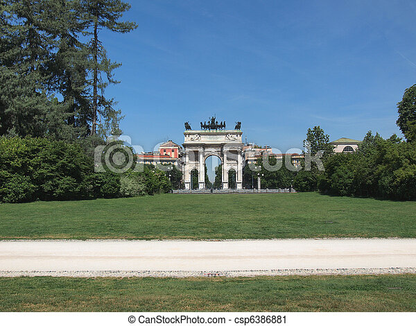 Arco della Pace, Milan - csp6386881