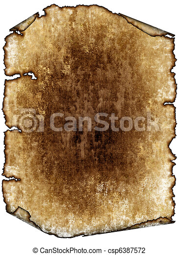 vintage grunge textured parchment scroll, antique background texture of a paper page, highly detailed - csp6387572