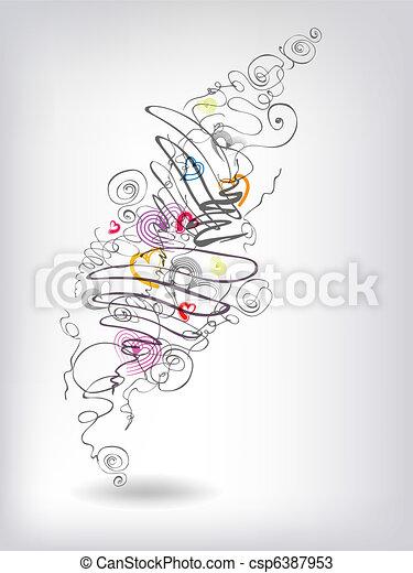 Heats doodles - csp6387953